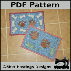PDF Pattern for Dog & Cat Mat or Mini Quilt for Your Pets - Tutorial, DIY