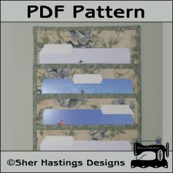 PDF Pattern for File Folder Pocket Organizer Wall Hanging, Tutorial, DIY