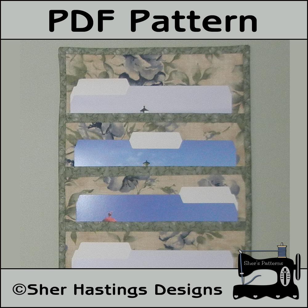 Pdf Pattern For File Folder Pocket Organizer Wall Hanging